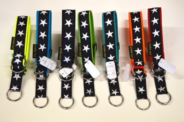 breites Zugstopp Halsband mit Sternen & Polsterung